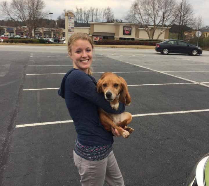 Birdee the Beagle finds her new family