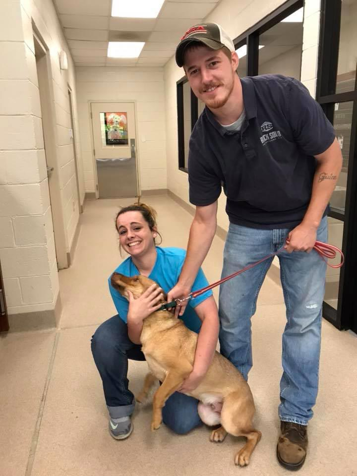 Roo with his new family